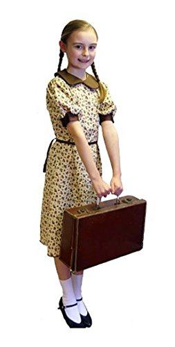 1940's-WW2-Wartime Floral Print Evacuee Dress World Book Day Fancy Dress Costume - All Ages (Age (Evacuee Costume Ww2)