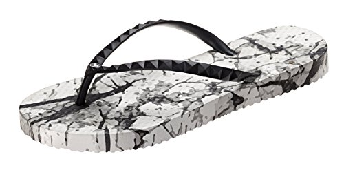 Beach Wrap Water amp; Pool Gym White Dorm Elongated Collection Sandals for Heart and Marble Shower Showaflops Antimicrobial Womens FWTq88