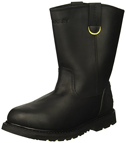 Stanley Men's Dropper 2.0 Soft Toe Industrial and Construction Shoe, Black, 10.5 M (Black Rubber Work Boot)