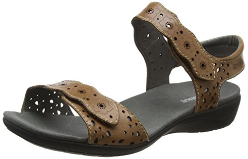 Romika Tahiti 03, Women's Ankle-Strap Brown (Bark)