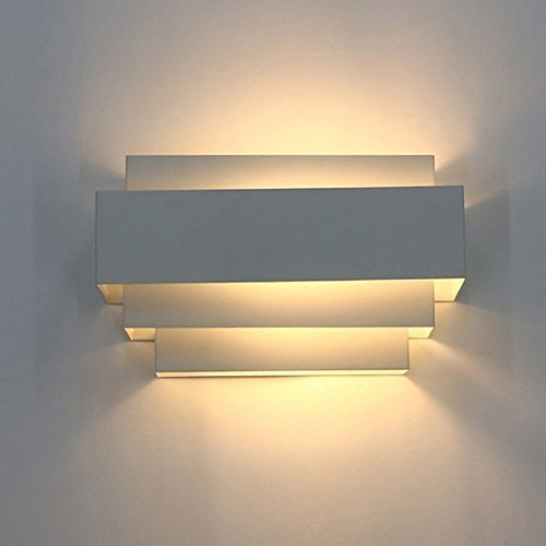 Unimall modern led white wall lights 5w up down square beside wall unimall modern led white wall lights 5w up down square beside wall sconce lamp for bedrooms aloadofball Choice Image