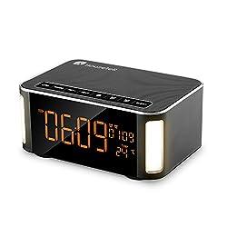 Bluetooth Speaker, Houzetek Portable Wireless Speaker Multimedia Touch HIFI V4.2 Bluetooth Speaker Technology with Temperature, Calendar, Alarm Clock for Outdoor / Indoor