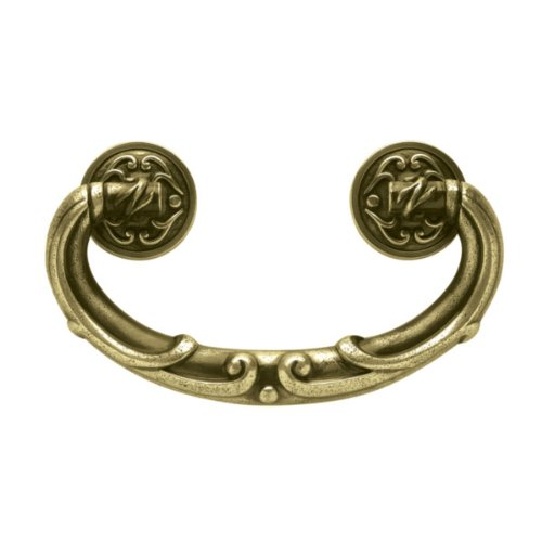 Liberty Hardware PN1511-ABT-C FRENCH LACE II Cab HW-Liberty 0.51 Inch Drop Handle Pull - Tumbled Antique Brass ()