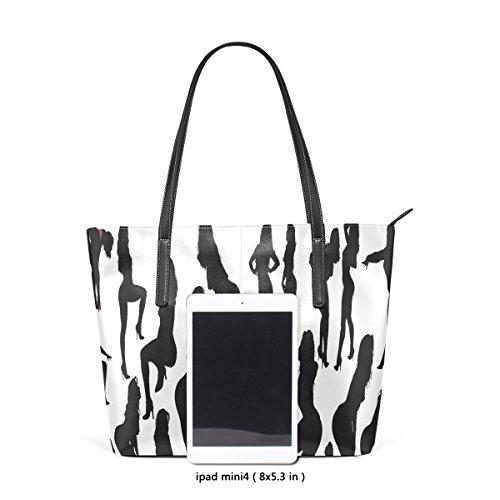 Bennigiry delfino nero e bianco sexy stampa PU borsetta borsa a tracolla per donne ragazze