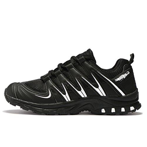 Senderismo EN Zapatillas JEDVOO Running Libre de Zapatillas Para Zapatos y de Deportes Aire Negro Para Hombre Asfalto y Montaña Correr S66EqwYC