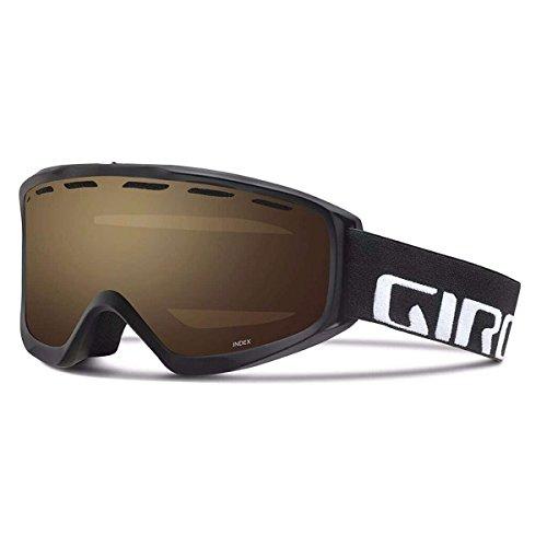Giro 2018 Index OTG Ski Goggle - Black Wordmark Frame/Amber Rose Lens - 7084496 - Giro Index Otg Snow Goggles