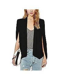VERO VIVA Women's Business Cape Suits Slim Fit Split Solid Casual Blazer Jackets
