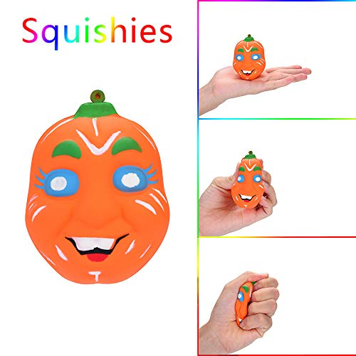 Squishy Toys,Halloween Pumpkin Scented Squishies Slow Rising Kids Toys Stress Relief Toy