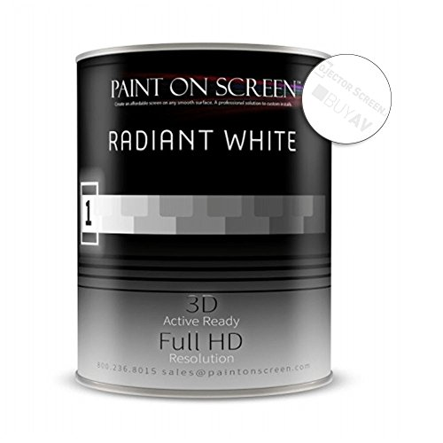 (Paint On Screen Projection Screen Paint (Radiant Whte - Gallon))