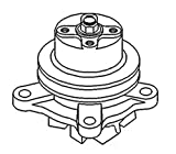 """15622-73030 Water Pump w/ .5"""" Belt Groove Made to fit Kubota Tractor Model M4950"""