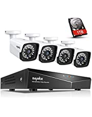 SANNCE POE CCTV Home Security Camera System 4CH XPOE NVR Recorder 1TB Hard Drive, 4x 2.0MP Indoor Outdoor Metal IP Cam (1080P Resolution, Power over Ethernet, Easy Mobile Access with APP Alert)
