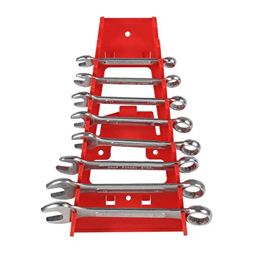 Set Socket Wrench - 2019 Wrench Holder Wall Mounted Plastic Red 9 Slot Wrenches Rack Standard Organizer - Roll Kitchen Wall Rack Mount Collet Shelf Spanner Hand Drill Socket Plastic Holder Tool