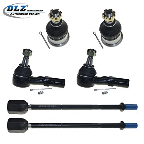 (DLZ 6 Pcs Front Suspension Kit-2 Lower Ball Joint 2 Inner 2 Outer Tie Rod End Compatible with 1996 1997 1998 1999 2000 2001 2002 2003 2004 2005 Mercury Sable 1996-2006 Ford Taurus 3.0L 6Cyl V (-)(182))