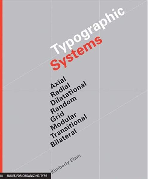 Amazon Com Typographic Systems Of Design Frameworks For Type Beyond The Grid Graphic Design Book On Typography Layouts And Fundamentals 9781568986876 Elam Kimberly Books