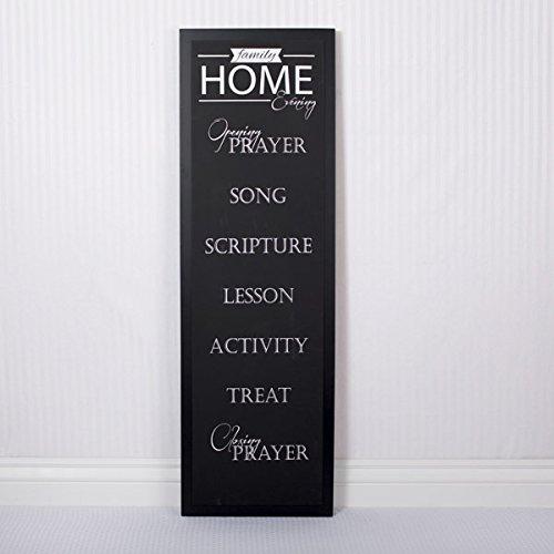 16x46x1.5 Wood Chalkboard Sign (Fhe) Black/white