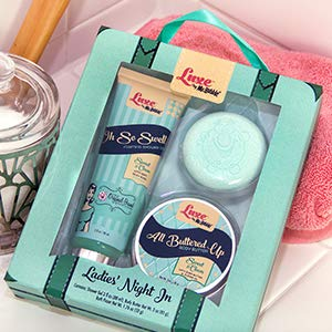 (Luxe by Mr. Bubble, Bath Gift Set, Ladies Night In, Sweet & Clean Scent)