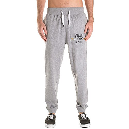 DONG Be Brave Be Strong Be You Men's Active Basic Jogger Pants Size (M-3X)
