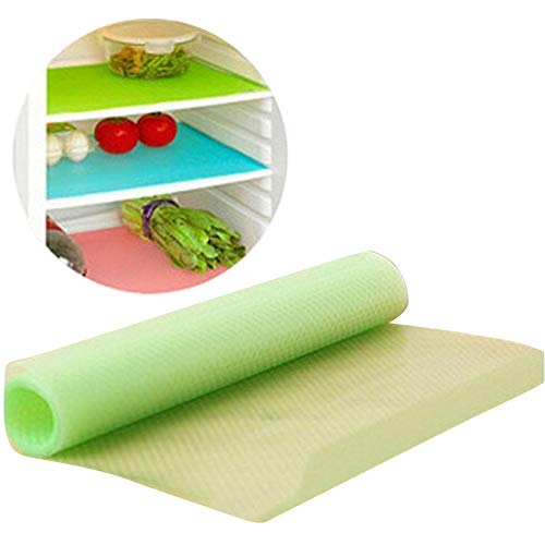 (seaped Can Be Cut Refrigerator Pad Antibacterial Antifouling Mildew Moisture Absorption Pad Mat Table,Set of)