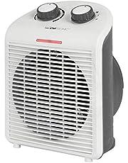 Clatronic Värmefläkt HL 3761, mobil och kompakt värmefläkt, 2 värmenivåer (1000/2000 W), kall steg (fläkt), stabilt bärhandtag, vit, 263951