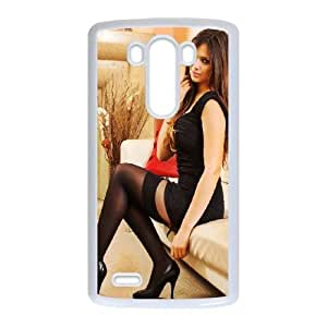 Cute TPU Case Celebrities Louisa Marie LG G3 Cell Phone Case White