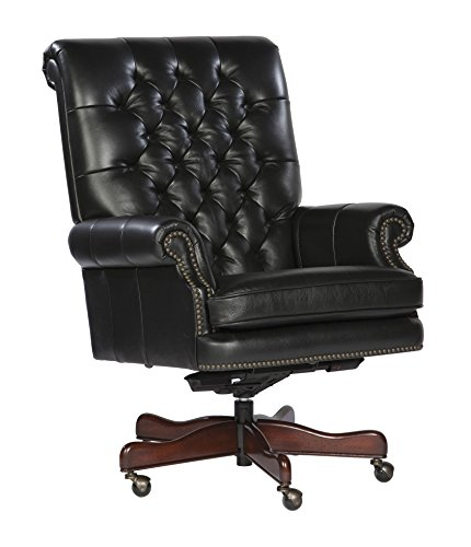 Leather Executive Arm Chair w Back, Coffee 309268-OG-93786-O-415800 - Executive Chair Hekman Furniture