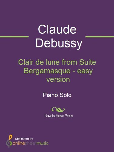 Clair de lune from Suite Bergamasque - easy version - Piano