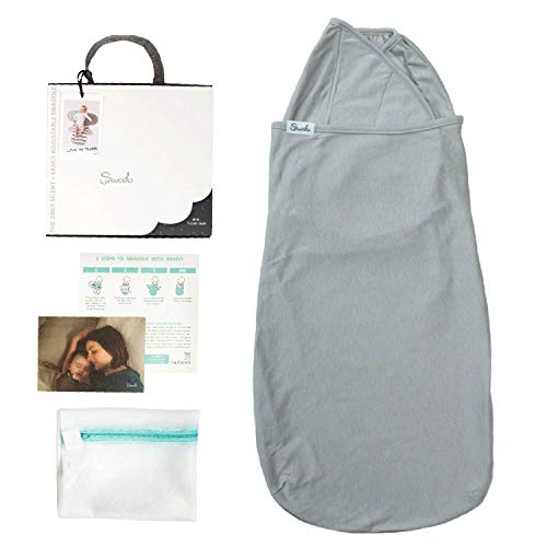 Swado Swaddle. Bamboo-Cotton Blend. Earth-Gray Color. Size Medium (3-6 Months)
