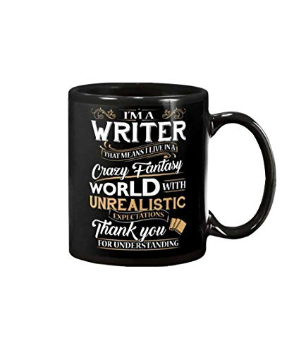 Mug Creatory - I'm A Writer - Fantasy World Ceramic Mug 11 oz Coffee Gift Mug Cup, Coffee Mug 11oZ ()