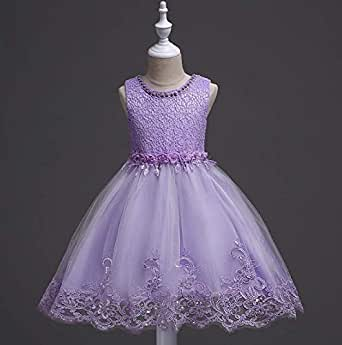 pageant girls princess dress kids party wedding bridesmaid tutu dress