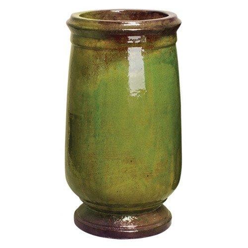 Large Round Ceramic Planter - Mossy Green