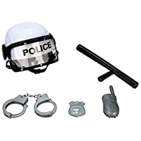 ECCRIS Combat Police Helmet and Accessories Play Set Pretend Playset Toy Gifts