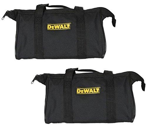 Dewalt Ballistic Nylon 12-inch Black Mini Tool Bag - 2-Pack Ballistic Nylon Zipper