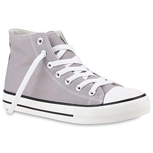 Arriate high Übergrößen Sneaker Stiefelparadies Herren Unisex Damen Flandell Grau w8Zqn6Sx