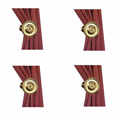 Curtain Tiebacks Solid Brass Tarnish Resistant Set of 4