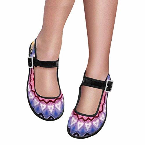 Interestprint Mujeres Comfort Mary Jane Flats Zapatos Casual Para Caminar Multi 6