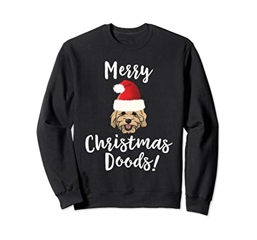 Merry Christmas Goldendoodle Funny Dog Sweatshirt (Dogs Jumpers Christmas)
