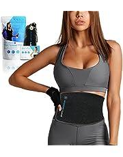 Sports Laboratory Midja Trainer PRO + för män och kvinnor - Idealisk svettbälte för viktminskning och hållning under träning - Inkluderar resväska och träningsguide - En storlek, justerbar passform
