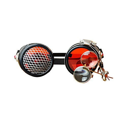 Cosplay Punk Hombre Cassic de Brand de sol Steampunk Hombres 2018 Kehuashina Gafas Retro Original Designer Halloween Glasses Sun wPzxyq