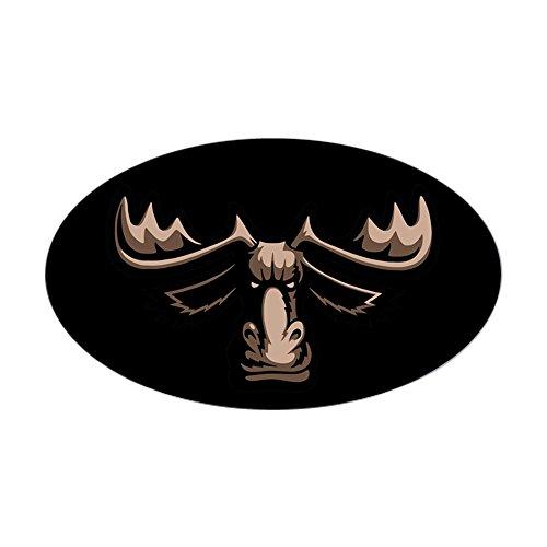 CafePress Mad Moose Oval Bumper Sticker, Euro Oval Car Decal