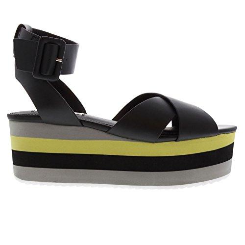 Schuhe Macer Steve Schwarz Sandale Madden mit Keilabsatz Damen qIvwBT