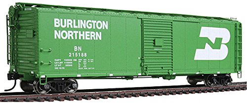 WalthersProto - 50' AAR Single-Door Boxcar - Burlington Northern #215188 - Cascade Green with Large White Logo - Ready to Run (Single Boxcar Aar Door)