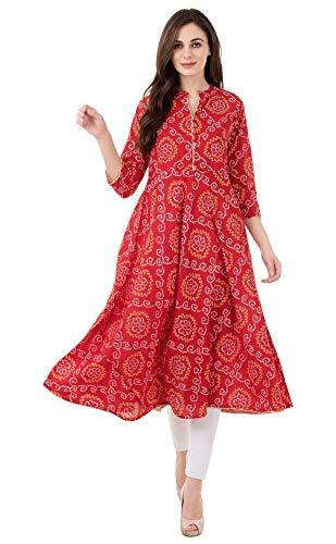 Vachita Women's Cotton Anarkali Kurta