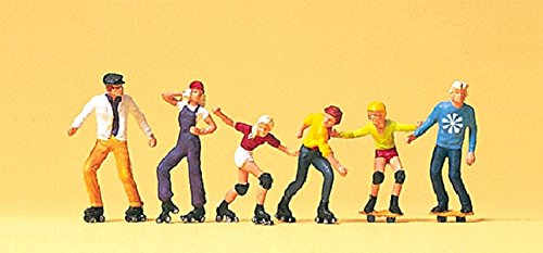 - Preiser 10074 Pedestrians Roller-Skaters & Skateboarders Package(6) HO Model Figure