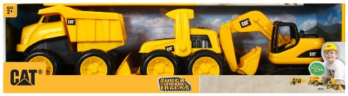 Cat Bulldozer - Toy State Caterpillar Tough Tracks, 3 Piece Set