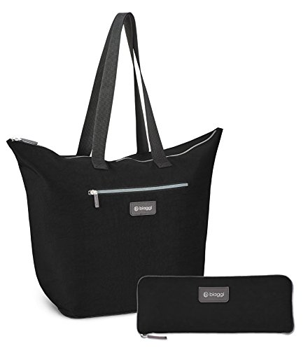 Biaggi ZipSak micro-fold Shopper Tote Negro