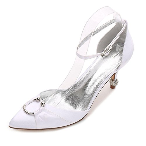 Evening de high 25 Novia Summer Confort Blue Heel Stiletto Satin Boda High White Vestido Fall Elegant shoes Party 17767 amp; Mujer Para aFBgwq7wd
