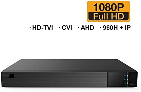 HDVD 16 CH 4 IP Total 20CH All-in-One 1080P DVR Digital Video Recorder, HD-TVI, CVI, AHD 1080P 720P , Analog Auto-Detect , and 4 IP Security Camera System No HDD