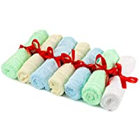 "Adovely 7 Washcloth Towels, Baby Bath Gift Set, Bamboo, 10"" x 10"""