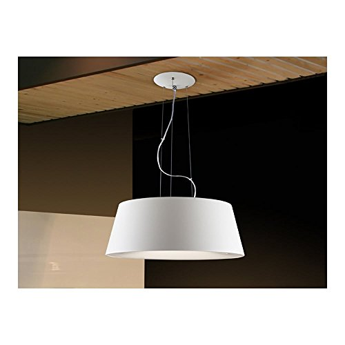 Schuller Spain 198321I4L Modern white drum shade pendant light 4 Light Dining Room, Living Room, Hallway, Bedroom LED | ideas4lighting by Schuller