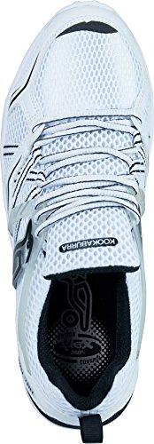 Cricket Shoes KOOKABURRA Pro 780 Gummisohle - Leichte strapazierfähige Performance-Schuhe Weiß schwarz